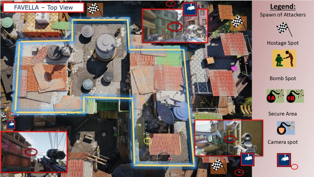 Tom Clancys Rainbow Six Siege Map Favela - Map Favella Top View