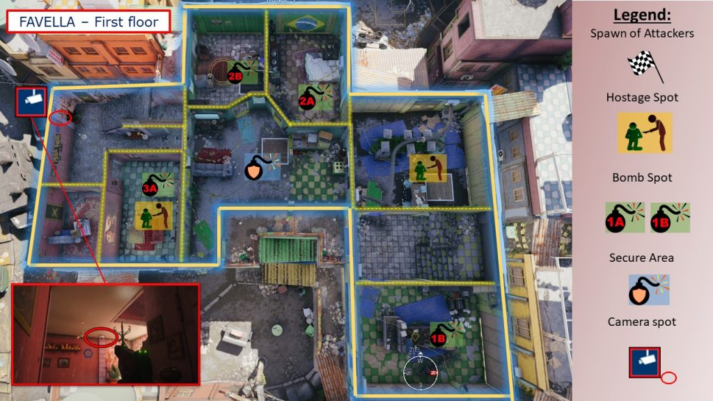 Tom Clancys Rainbow Six Siege Map Favela - Map Favella 1OG