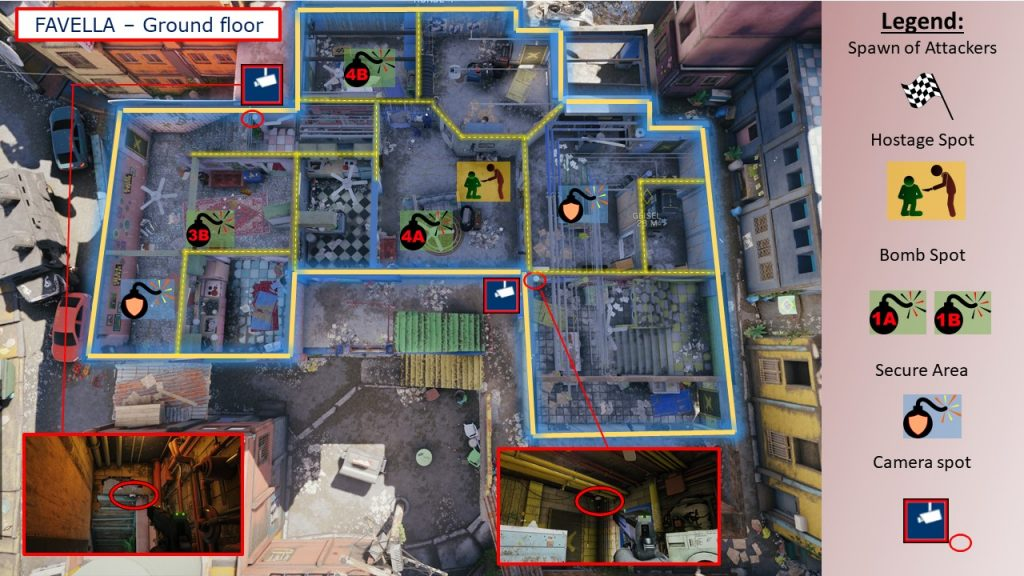 Tom Clancys Rainbow Six Siege Map Favela - Map Favella EG Ground Floor